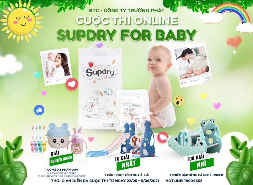 CUỘC THI ONLINE 'SUPDRY FOR BABY - SURPRISE FOR MOMMY' - TỔNG GIẢI THƯỞNG LÊN ĐẾN 100 TRIỆU ĐỒNG
