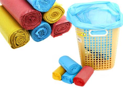 Bao rác cuộn 3 màu hoặc đen ( 100,75,50 túi/ kg) 2
